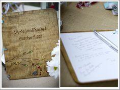 Wood Rustic Wedding Guestbook