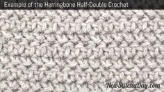 Example of the Herringbone Half Double Crochet Stitch. (Reversible)  http://newstitchaday.com/how-to-crochet-the-herringbone-half-double-crochet-stitch/?utm_source=New+Stitch+A+Day_campaign=3320397934-RSS_EMAIL_CAMPAIGN_medium=email_term=0_5fdf4684f8-3320397934-303732297