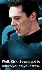 I haven't seen this movie but just one clip showed me how evil Cumberbatch played this character. Watch Star Trek, Star Trek Tv, Benedict Cumberbatch Sherlock, Sherlock Bbc, James T Kirk, Star Trek Reboot, John Harrison, Star Trek 2009, Star Trek Into Darkness