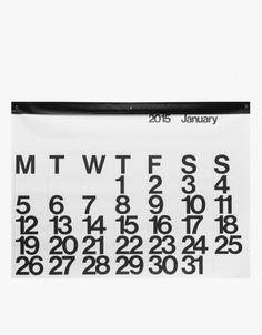 Giant graphic Stendig calendar, perfect for your home office