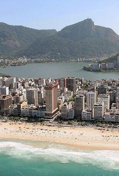 Part of Ipanema and Lagoa Rodrigo de Freitas. Rio de Janeiro, Brazil.