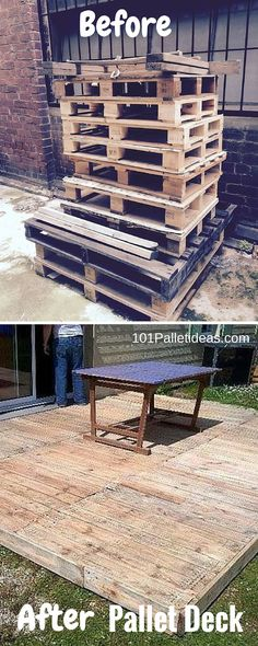Reclaimed #Pallet #Deck Flooring - Pallet Outdoor!! - 101 Pallet Ideas