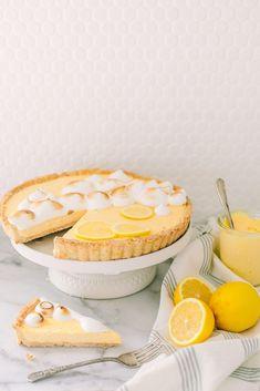 Lemon Meringue Tart   Monika Hibbs Pie And Tart Pans, Yummy Things To Bake, Lemon Meringue Tart, Sugar Cookie Dough, Sweet Pastries, Cookie Decorating, Decorating Ideas, Dessert Recipes, Desserts