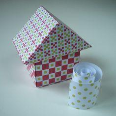 """Kit """"boîte maison"""". Possibilité de réaliser trois maisons aux couleurs de Noël ! Tutos sur le blog."""