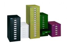 15-drawer file cabinet in 'chlorophyll' from Direct Office.  £126