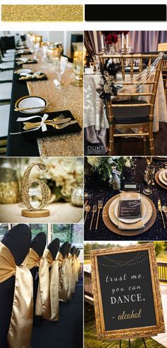 2017 Golden Globe: Top 4 Trendy and Chic Colors for Your Wedding Inspiration Luxurious Black And Gold Wedding Ideas Inspired from 2017 Golden Globe Red Carpet Gold Wedding Decorations, Wedding Themes, Wedding Colors, Car Themed Wedding, Black And Gold Party Decorations, Gatsby Wedding, Red Wedding, Wedding Day, Gold Wedding Theme