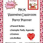 FREE 22 page Valentine Party Planning Guide for Pre-K and Kindergarten.  Save valuable time and have a well planned and organized classroom party s...
