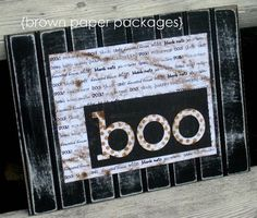 DIY Halloween Crafts : DIY boo! beadboard sign
