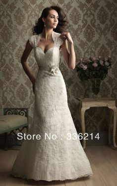 2013 New Fashion Long White Floor length Zipper Open Back Lace Sweetheart Mermaid wedding dresses With Removable Jacket-in Wedding Dresses f...