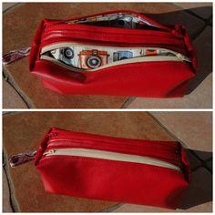 Trousse Zip-Zip cousue par Camille M Craft  - Patron Sacôtin