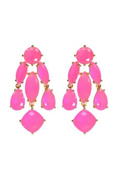 The perfect pop of pink with these kate spade new york accessories Hot Pink Statement Earrings