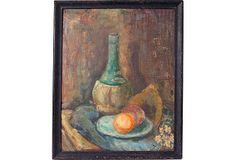 English Still Life Oil Painting, C. 1940 on OneKingsLane.com