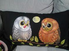 Kumaş boyama baykuş yastık - Hobi Blogları