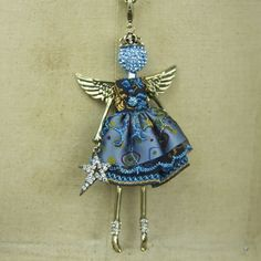 December Turquoise Angel Birthstone Necklace