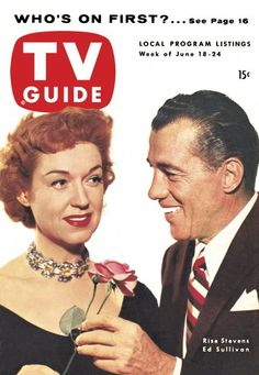 TV Guide, June 18, 1954 - Rise Stevens and Ed Sullivan