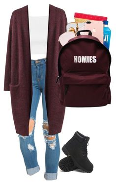 """Shool outfit #10"" by michalsavagebish ❤ liked on Polyvore featuring Topshop, Acne Studios, Timberland and ASAP"
