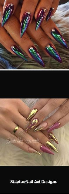 30 Great Stiletto Nail Art Design Ideas Many women prefer to visit the hairdresser even … Beautiful Nail Designs, Beautiful Nail Art, Gorgeous Nails, Cute Nails, My Nails, Pretty Nails, Diva Nails, Stilettos, Nail Art Designs