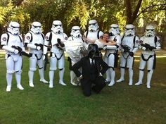 Star Wars wedding! I like the idea of storm troopers