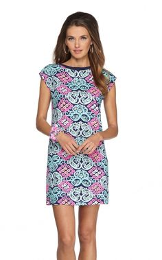 Robyn Dress in Behind The Gate, Bright Navy