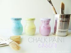 El rincón de las cosas bonitas: Cómo hacer chalk paint o pintura de pizarra casera... Diy Projects To Try, Craft Projects, Craft Ideas, Z Arts, Chalk Art, Diy Painting, Fun Crafts, Decoupage, Handmade