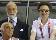 Princess Anne, the Princess Royal with her second cousin, Prince Michael of Kent.