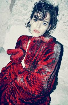 """""""A Story in Red"""" by Arnaud Pyvka for Marie Claire Italy October 2015"""