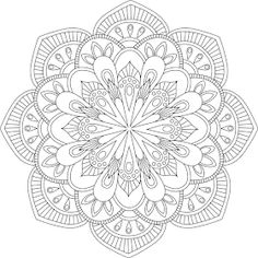 "The word ""gati"" refers to one of four ""destinies"", or realms of existence: human beings, heavenly beings, tiryancha (animal) beings, and infernal beings. Design Mandala, Mandala Pattern, Mandala Art, Pattern Art, Mandala Coloring Pages, Coloring Book Pages, Printable Coloring Pages, Coloring Sheets, Stencil"
