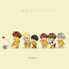 #세븐틴 #SEVENTEEN on ISAC 2019 Love Art, My Love, Seventeen Memes, Seventeen Wallpapers, Kpop Fanart, Pledis Entertainment, Hoshi, Mingyu, Anime Chibi