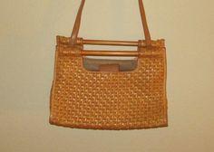 vintage straw basketweave handbag by Fossil by mellowrabbit, $24.00