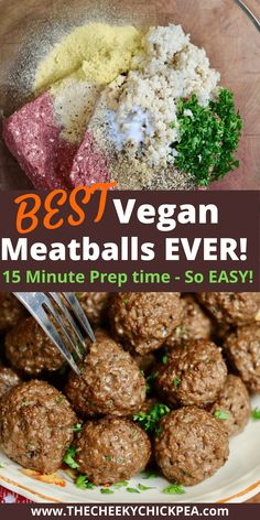 Vegan Meatballs! My vegetarian take on ground beef meatballs made with impossible meat (can sub beyond) 15 Minute prep time! Juicy meaty won't fall apart veggie balls that taste beyond DELICIOUS and vegan! Seriously the best plant based meatball recipe you will make and so EASY! Enjoy with spaghetti sauce. Nut free, easily gluten free. Easy Vegan Meatballs Recipe, Vegan Meat Recipe, Veggie Meatballs, Vegetarian Meatballs, Vegan Beef, Recipes With Vegan Ground Beef, Best Vegan Recipes, Vegan Dinner Recipes, Vegan Dinners