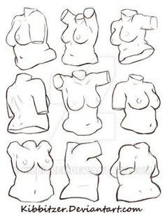 female torso reference sheet 2 by Kibbitzer