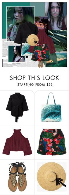 """Tropical Hawaiian"" by rainie-minnie ❤ liked on Polyvore featuring Casa Nata, Amuse Society, W118 by Walter Baker, Valentino, Roberto Cavalli, tropical, personalstyle, Exotic and HAWAIIAN"