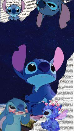 Disney Phone Wallpaper, Cartoon Wallpaper Iphone, Cute Cartoon Wallpapers, Cute Disney Drawings, Cute Drawings, Lilo And Stitch Drawings, Disney Collage, Cute Stitch, Pinturas Disney