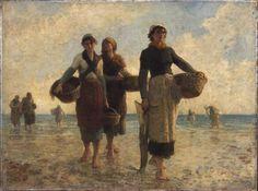 Fisher Women of Cancale  Artist:Augustin Feyen-Perrin (Bey–sur–Seille 1826 – 1888 Paris) Szépművészeti Múzeum - Gyujtemenyi kereső angol - Artwork