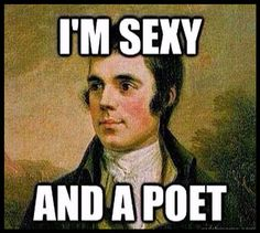 i'm sexy poet robert burns scottish scots funny music joke poetry author writer scotland famous hero freedom yes independence tshirt