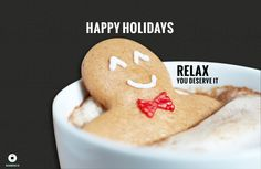Christmas Card-Gingerbread man floating in Hot Chocolate Holiday Cookie Recipes, Holiday Treats, Holiday Baking, Holiday Candy, Holiday Wishes, Halloween Candy, Christmas Wishes, Holiday Parties, Chocolate Caliente