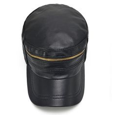 d347835331ddd Men Sheepskin Genuine Leather Flat Cap Casual Outdoor Visor Hats Solid  Adjustable Fashion Army Hats Leather