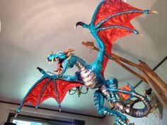badass paper mache dragon