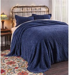 King Wedding Ring Tufted Chenille Bedspread | Bedspreads