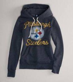 Pittsburgh Steelers NFL Hooded Popover. GO STEELERS!! Steelers Hoodie c047438bd