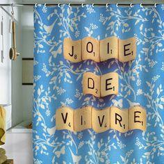 DENY Designs Happee Monkee Joie De Vivre Shower Curtain | Pure Home