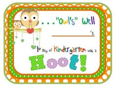 Maggie's Kinder Corner: I love the 1st Day of Kindergarten, don't you? How 'bout a FREEBIE to send