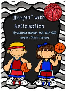 "Basketball season is in full swing with this packet!  It includes 4 different activities to all your articulation needs!  There are 3 activities that are ""no prep!""  Just print and go!This packet incudes:""Basketball Dot Challenge"" (Designed to get 100 repetitions!!)""Basketball Articulation SMUSH!"": Grab a jar of orange playdough and smush while targeting the whole group!"