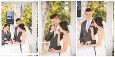 Wedding: John & Victoria // San Dieguito County Park, Del Mar, CA » Analisa Joy Photography // bride and groom taking communion