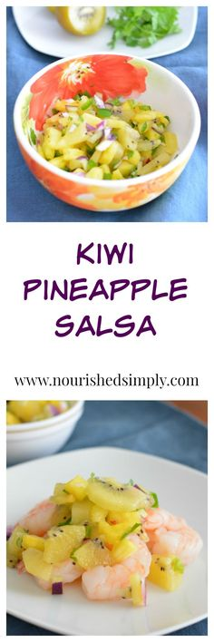 Kiwi Pineapple Salsa made with /zespri/ Sungold kiwi fruit is a great compliment to any protein. Works well with most shrimp, chicken, pork, or fish recipes.