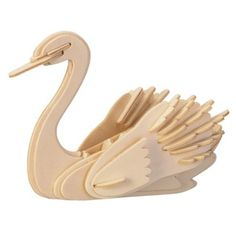 GBP - Swan Woodcraft Construction Kit - Bird Wooden Model Puzzle For Kids/Adults Wooden Jigsaw, Wooden Toys, Woodcraft Construction Kit, 3d Puzzel, Cool Wood Projects, Wooden Animals, Puzzle Toys, Puzzles For Kids, Woodworking Wood