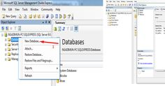 Cara Membuat database SQL Server http://goo.gl/BY7Kyj