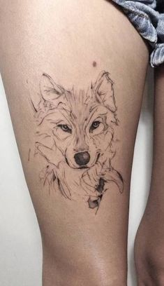 1001 wolf tattoo models for women and men- 1001 modelos de tatuajes de lobo para mujeres y hombres 1001 models of wolf tattoos for women and men - Husky Tattoo, Lotusblume Tattoo, Lion Tattoo, Tattoo Fonts, Wolf Tattoo Design, Tattoo Designs, Simple Wolf Tattoo, Wolf Tattoos For Women, Infected Tattoo