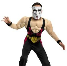 Child Sting Wrestler Costume Comprises jumpsuit with muscle torso and connected belt and personality masks. That is an formally approved TNA Wrestling product. The post Child Sting Wrestler Costume appeared first on Halloween Costumes Best. Glow Wrestling, Wrestling Costumes, Cool Costumes, Halloween Costumes, Personality, Masks, Muscle, Jumpsuit, Belt