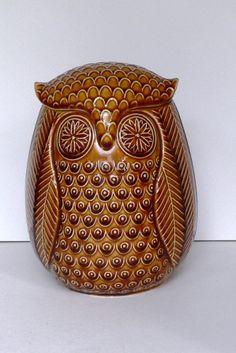 Owl Cookie Jar by Fitz & Floyd